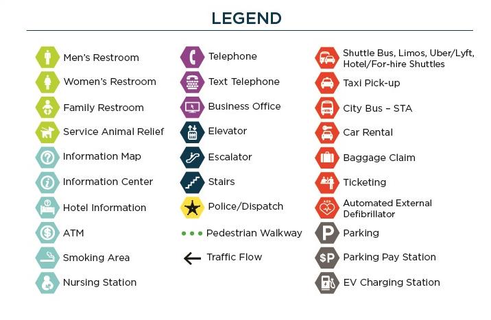 Spokane Intl Airport > Terminal > Terminal Map on